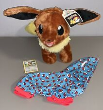 *BRAND NEW* Build A Bear Pokemon Plush Eevee w/Pokeball Sleeper & Card