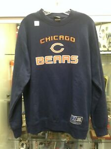 Chicago Bears Mens Large Pull Over Crew Sweatshirt Reebok NEW w/tags