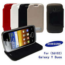 FOR SAMSUNG GALAXY Y DUOS S6102 Leather slot wallet stand flip Skin Case cover