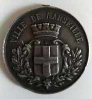 Médaille en argent massif Concours Gymnastique / Escrime Marseille 1893