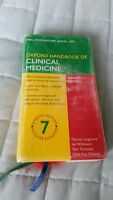 OXFORD HANDBOOK OF CLINICAL MEDICINE used but in good condition!