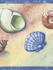 Hallmark Seashells With Blue Trim Wallpaper Border