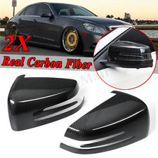 Real Carbon Fiber Side Mirror Cover For Mercedes Benz W204 C250 C300 C350 C63
