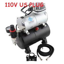 OPHIR 110V Air Tank Compressor Set for Airbrushing Hobby Tattoo Painting T-shirt