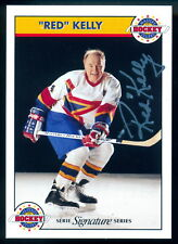 Zellers Masters of Hockey Red kelly NM Autographed Signed Card w/COA #534/1000