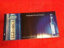 Bud Light Platinum 2013 Beer sign advertising game dorm room bar college
