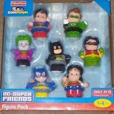 Little People Fisher Price BATMAN DC Super Friends Figures 7 Pack The JOKER New