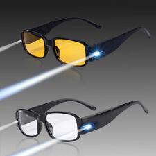 Unisex LED Lights Reading Glasses Night Vision Glasses With Lamp Glasses