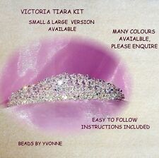 SMALL VICTORIA TIARA KIT / 4MM CLEAR CRYSTAL AB BRIDE