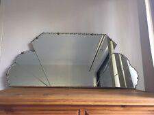 Large art deco mirror 86cm wide