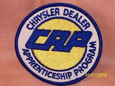Chrysler Dealer Apprenticeship Program CAP  Embroidered Patch Iron On 3 1/2""