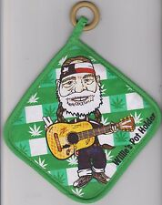 New listing Willie Nelson Pot Holder Weed Grass Novelty Hot Pad Country Outlaw Marijuana Usa
