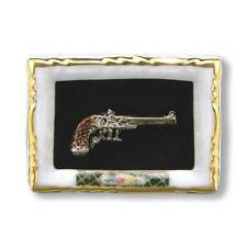 Dollhouse Miniature Antique-style Framed Dueling Pistol by Reutter Porcelain