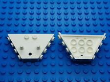 LEGO - 2 x CLASSIC VINTAGE WHITE TRAIN TIPPER BUCKET END 3145 - NO NUMBERS -