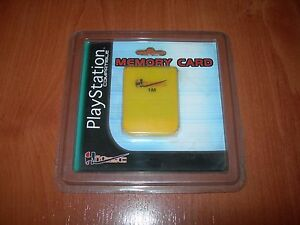 MEMORY CARD 1 MB 15 BLOCKS HITEC PARA PLAYSTATION NUEVA EN SU BLISTER
