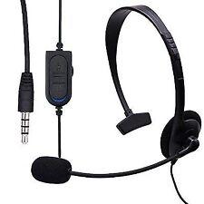 3.5mm Wired Headset Headphones Earphones Microphone Mic for Ps4 Xbox 360 Ne