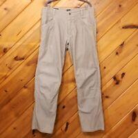 Kuhl Pants Tan 38 32 Crag Series Kanvas Cotton Hiking Work Mens Men Pant Khaki