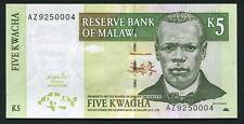 Malawi 5 kwacha 2004.03.01. J. Chilembwe P36b UNC Replacement Series Prefix AZ