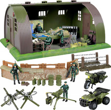Military Army Base Barrack Command Center Play Set Christmas Holiday kids Gift