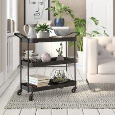 Vintage Industrial Serving Tea Trolley Cart 3 Tray Shelves Drinks Side Furniture