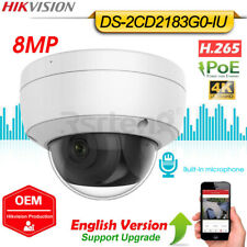 Hikvision Oem 8Mp 4K Ip Dome Camera Built-in Mic H.265 Poe Ir Tf Ds-2Cd2183G0-Iu