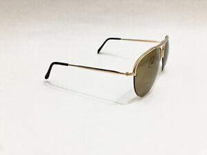 VINTAGE Polaroid 4728-P Gold/Gray Aviator sunglasses 60s/70s/80s