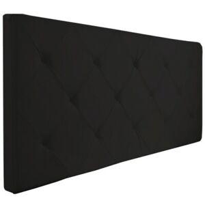 Tête de lit capitonnée EVA PVC noir pour lit 140 et 160 cm