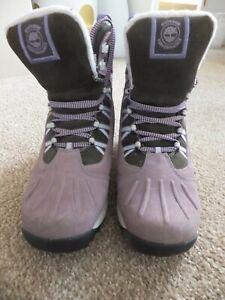 Timberland Waterproof Thermolite Boots Size UK 5 dusky pink leather