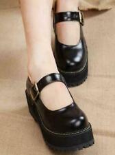 Mary Jane Shoes Womens Round Toe  Platform Shoes Lolita Buckle Cute Plus Size