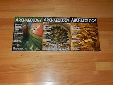 Archaelogy - Archaelogy Institute of America - 3 Bi-Monthly Magazines - 2016