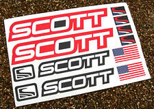 SCOTT Mountain Bike MTB Cycle Frame Decals Stickers RED