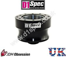 D1 SPEC BLACK 52mm STEERING WHEEL HUB BOSS KIT PEUGEOT 206 207 307 CITROEN C2 C3