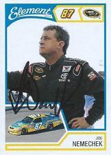 JOE NEMECHEK AUTOGRAPHED WHEELS ELEMENT RACING NASCAR PHOTO TRADING CARD #25