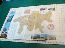 Vintage High Grade brochure: Switzerland-1975--GRISONS map