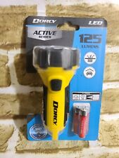 Dorcy 3AAA LED Floating Flashlight with Carabiner Yellow 41-2522