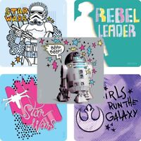 Star Wars Rebel Leader Stickers x 5 -Star Wars Birthday Party Favours Loot Girls