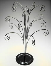 20 Inch Tall Ornament Display Tree Silver Color Plated Holds 15 Ornaments