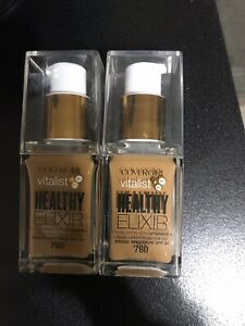 2 pack Covergirl Vitalist Healthy Elixir - 760 - Classic Tan Expired