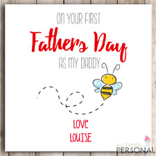 Personalised Fathers Day Card Dad Daddy Father's Day First 1st Son Daughter D2