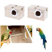 Wooden Cage House Breeding Box Nest For Bird Parrot Parakeet Cockatiels Supplies
