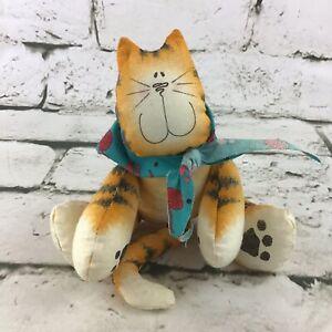 Tom Tom Kitty Cat Decorative Plush Orange Beanbag Stuffed Cartoon Country