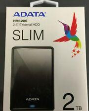 Adata HV620S 2TB Mobile External Hard Drive in Black - USB3.1