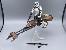 """Star Wars The Black Series 6"""" Speeder Bike w/ Biker Scout 100% Complete ORIGINAL"""