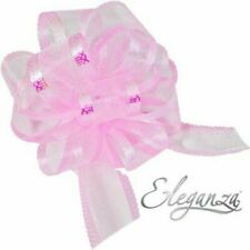Light Pink Organza 50mm LARGE PULL BOW - Wedding Car Gift Wrap Party Floristry