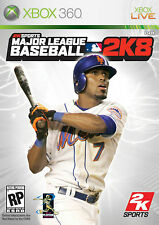 XBOX 360 2K Sports Major League Baseball 2K8 Video Game Multiplayer 1080p 2008