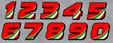 NUMEROS COURSE RACING NUMBERS DRIFT TUNING AUTOCOLLANT STICKER (NU002)