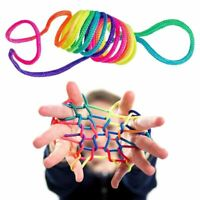 Rainbow Rope Kid's Toys Finger Rope Game Thread Toy Puzzle Interaction Game