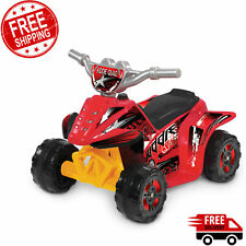 Ride On Toys For Boys Red Battery Powered Operated Car Riding Bike ATV 6 Volt