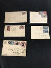 United States Stamp Lot ( 1893 and 1894 ) 5 Envelopes 11 Stamps