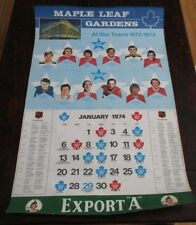 "Export ""A""  Maple Leaf Gardens Calendar Page All Star Teams 1972 - 1973"
